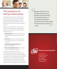 """2 panels of """"why ISI?"""" brochure"""