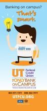 """UTFCU School Banner, 30""""x70"""""""