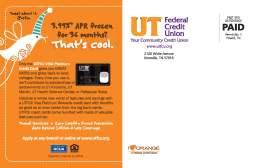 UTFCU Frozen Campaign direct mail back
