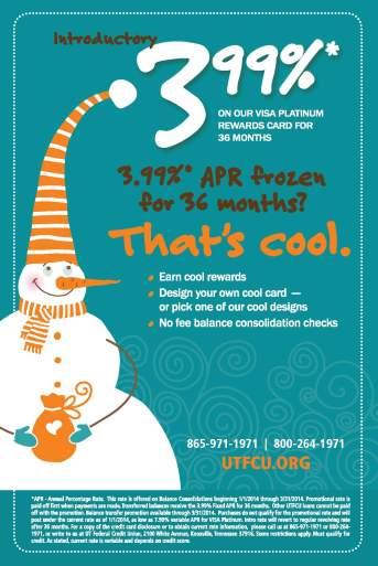 UTFCU Frozen Campaign direct mail front