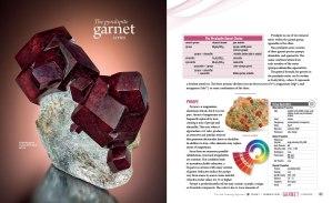 Garnet spread for Sisk Gemology Reference Book. Publication in 2016.